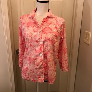 Lilly Pulitzer Tops - Lilly Pulitzer size small sleep shirt cotton